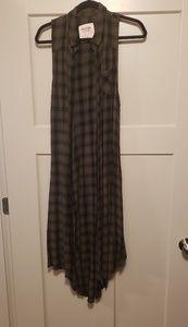 Plaid dress or long vest!